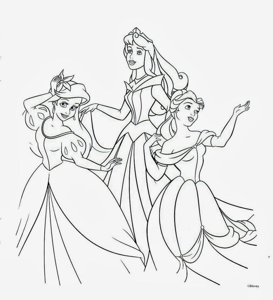 Ausmalbilder Prinzessinnen Zum Drucken mit Ausmalbilder Von Prinzessinnen