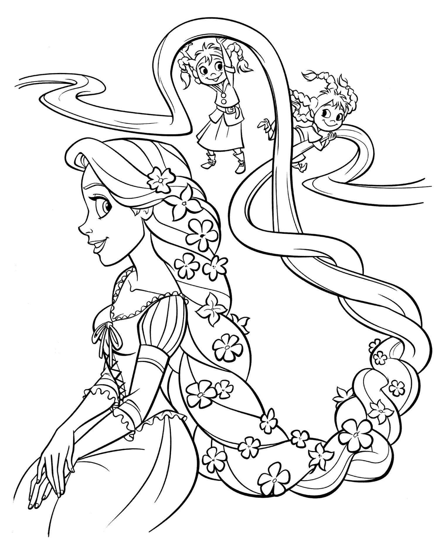 Ausmalbilder Rapunzel Malvorlagen | Malvorlage Prinzessin für Prinzessin Ausmalbilder Zum Drucken