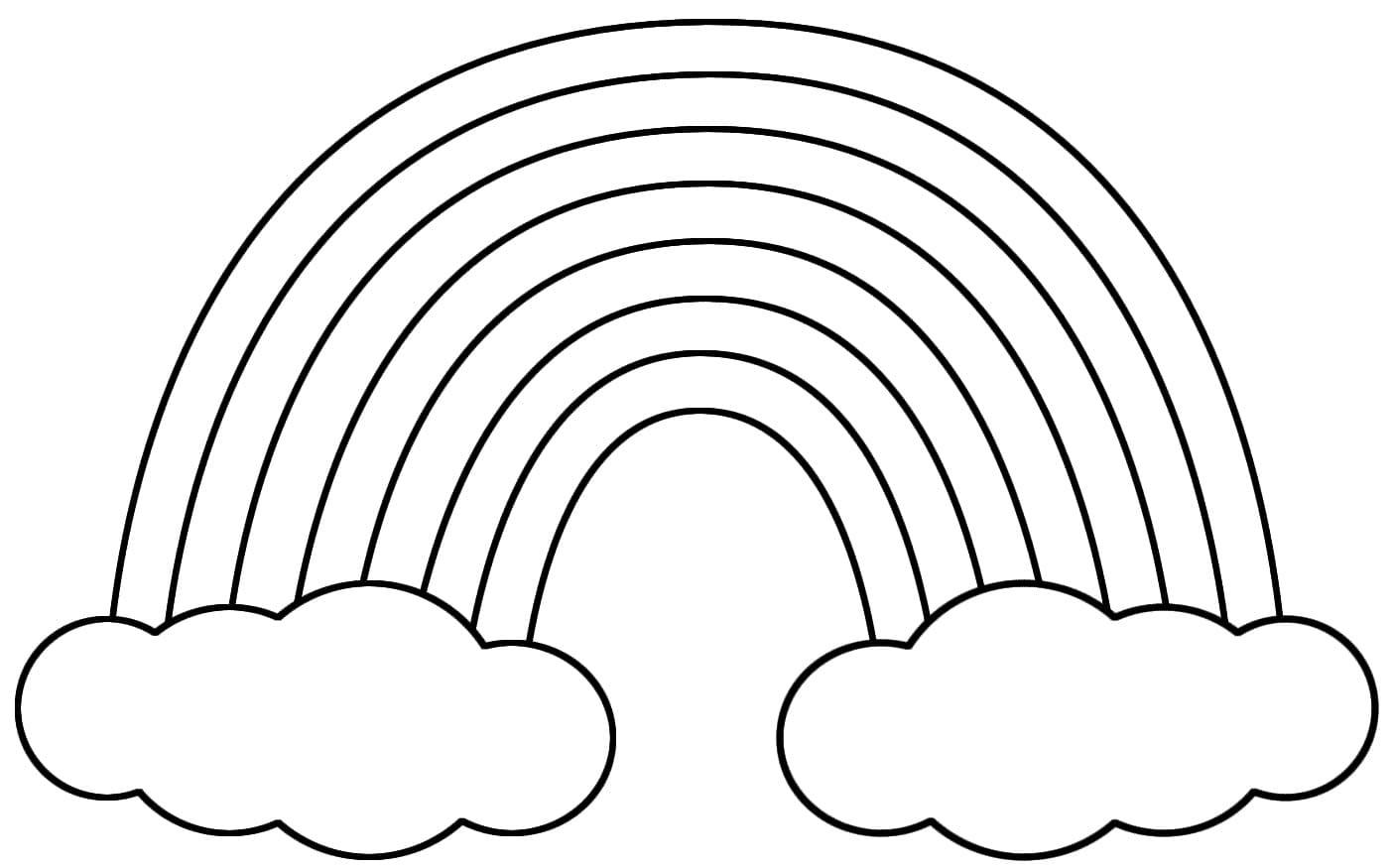 Ausmalbilder Regenbogen . Drucken Sie Kostenlos Auf Der Website innen Ausmalbilder Regenbogen