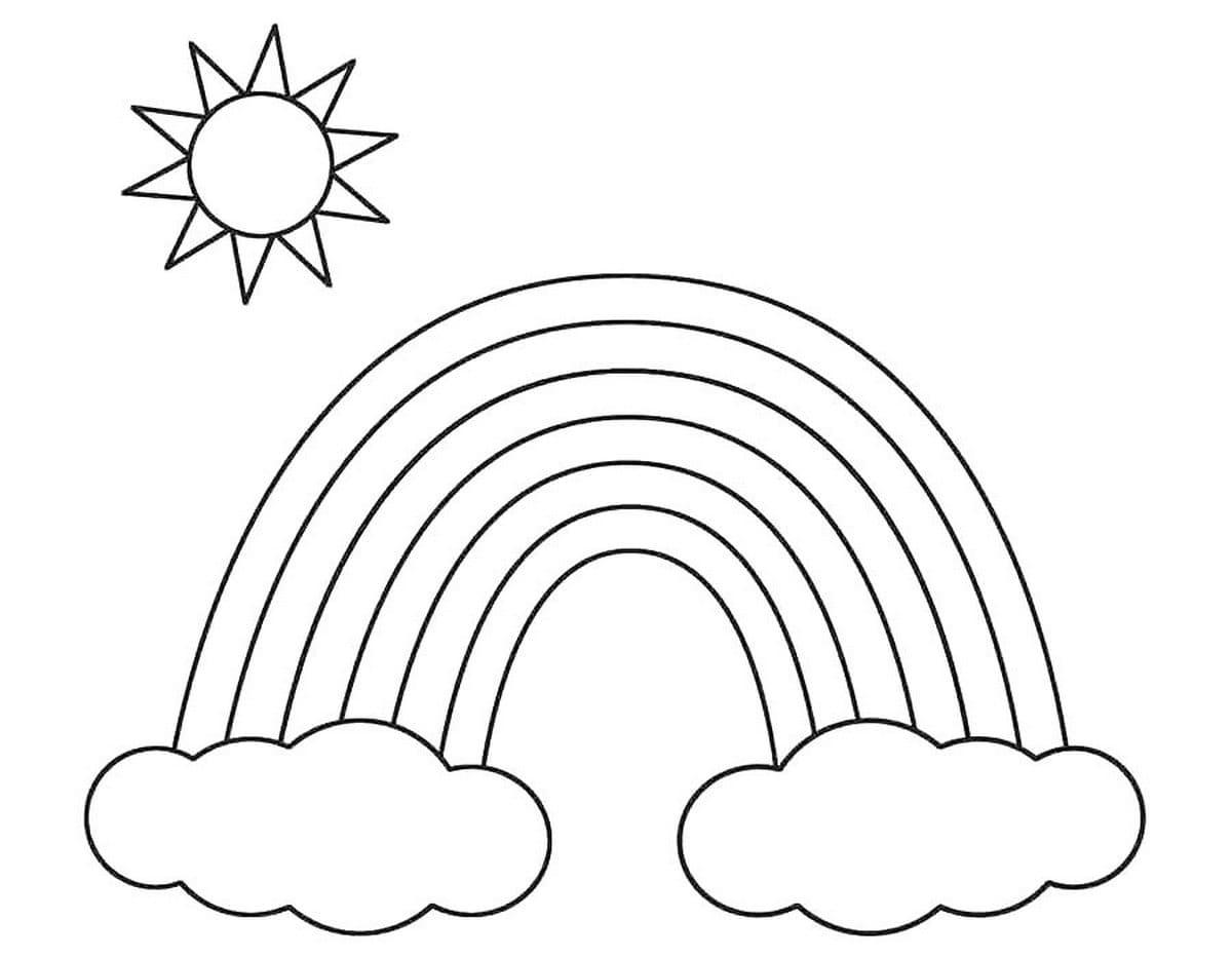 Ausmalbilder Regenbogen . Drucken Sie Kostenlos Auf Der Website über Malvorlage Regenbogen