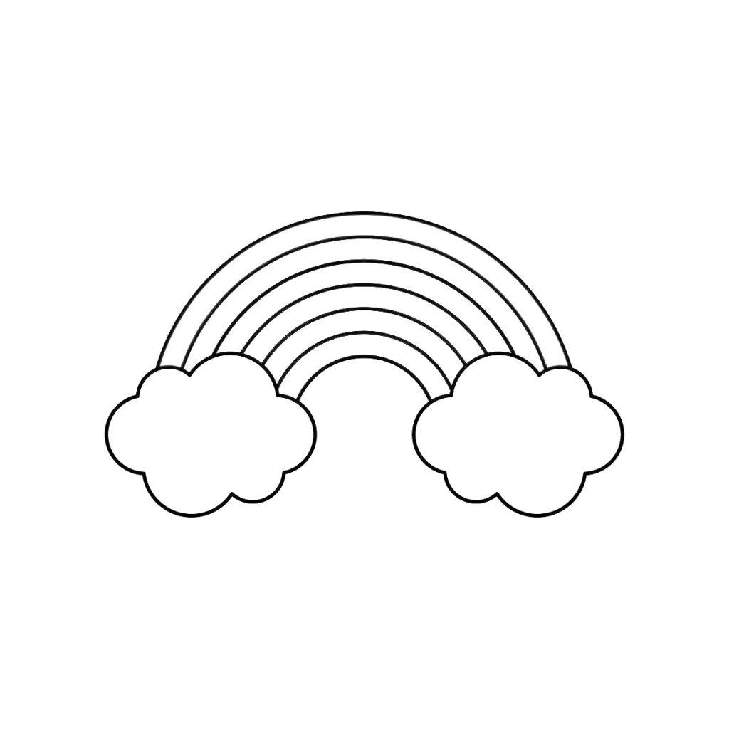 Ausmalbilder Regenbogen Für Kinder - Kids-Ausmalbildertv innen Regenbogen Ausmalbild