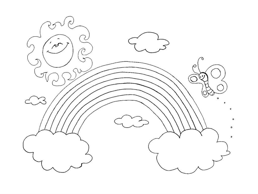 Ausmalbilder Regenbogen Für Kinder - Kids-Ausmalbildertv mit Ausmalbilder Kostenlos