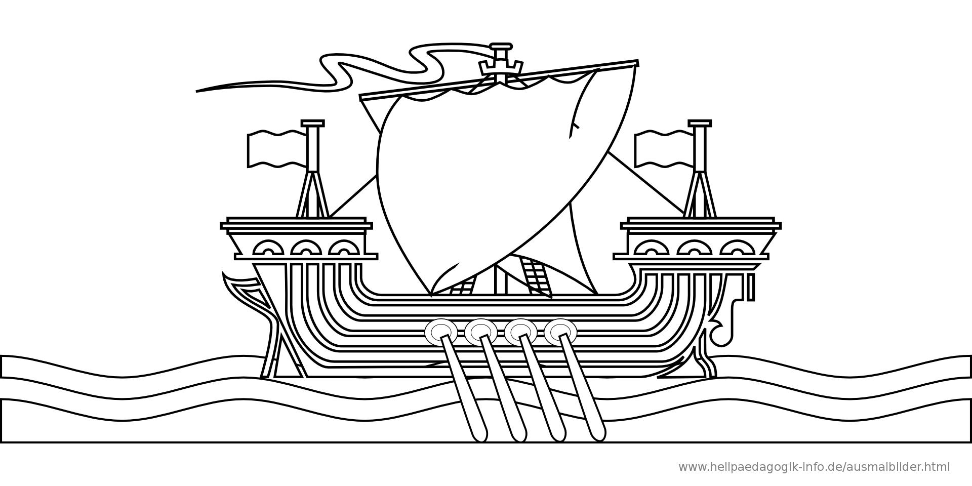 Ausmalbilder Schiffe Und Boote für Ausmalbild Schiff