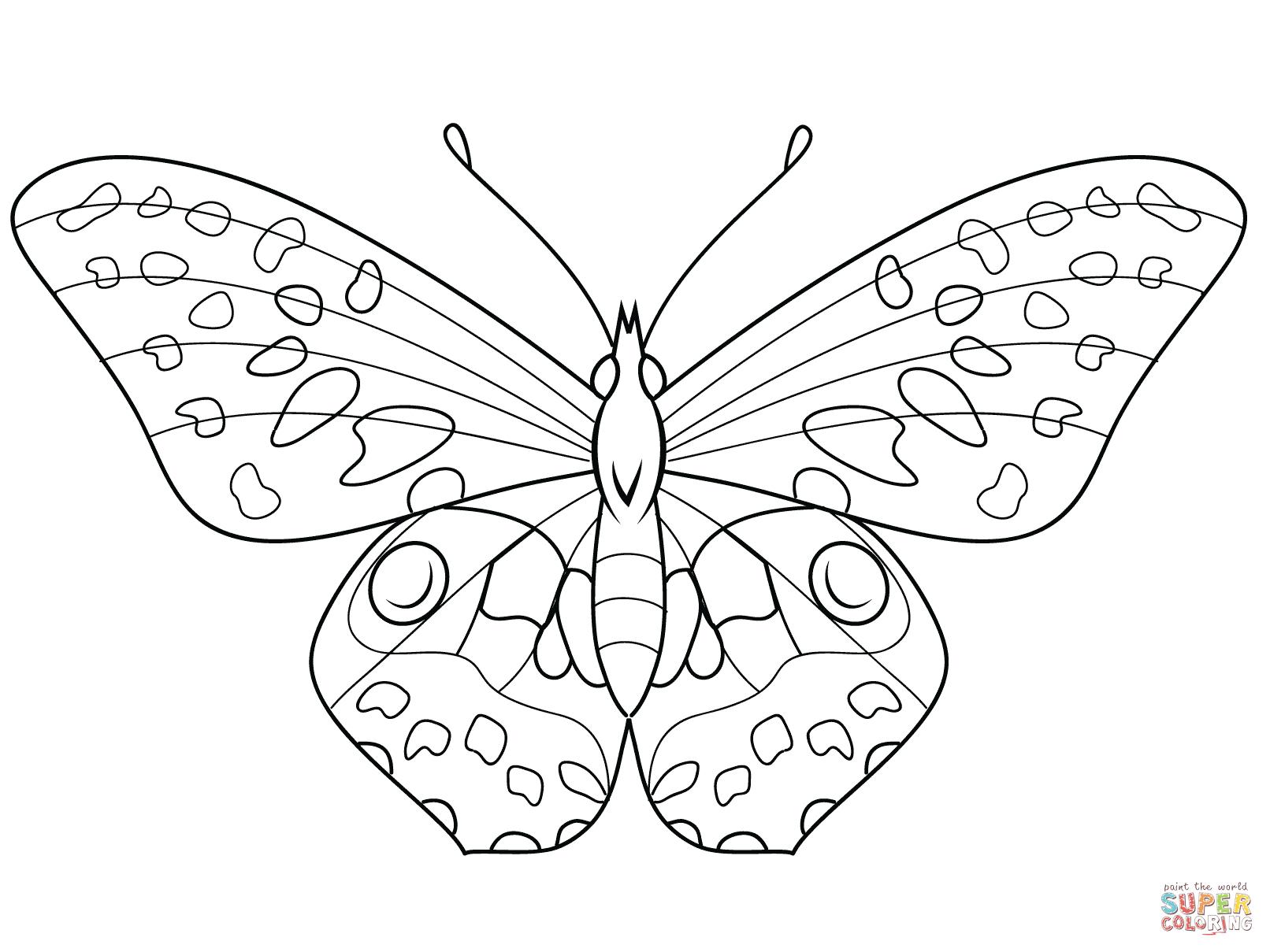 Ausmalbilder Schmetterling - Malvorlagen Kostenlos Zum in Malvorlagen Schmetterling