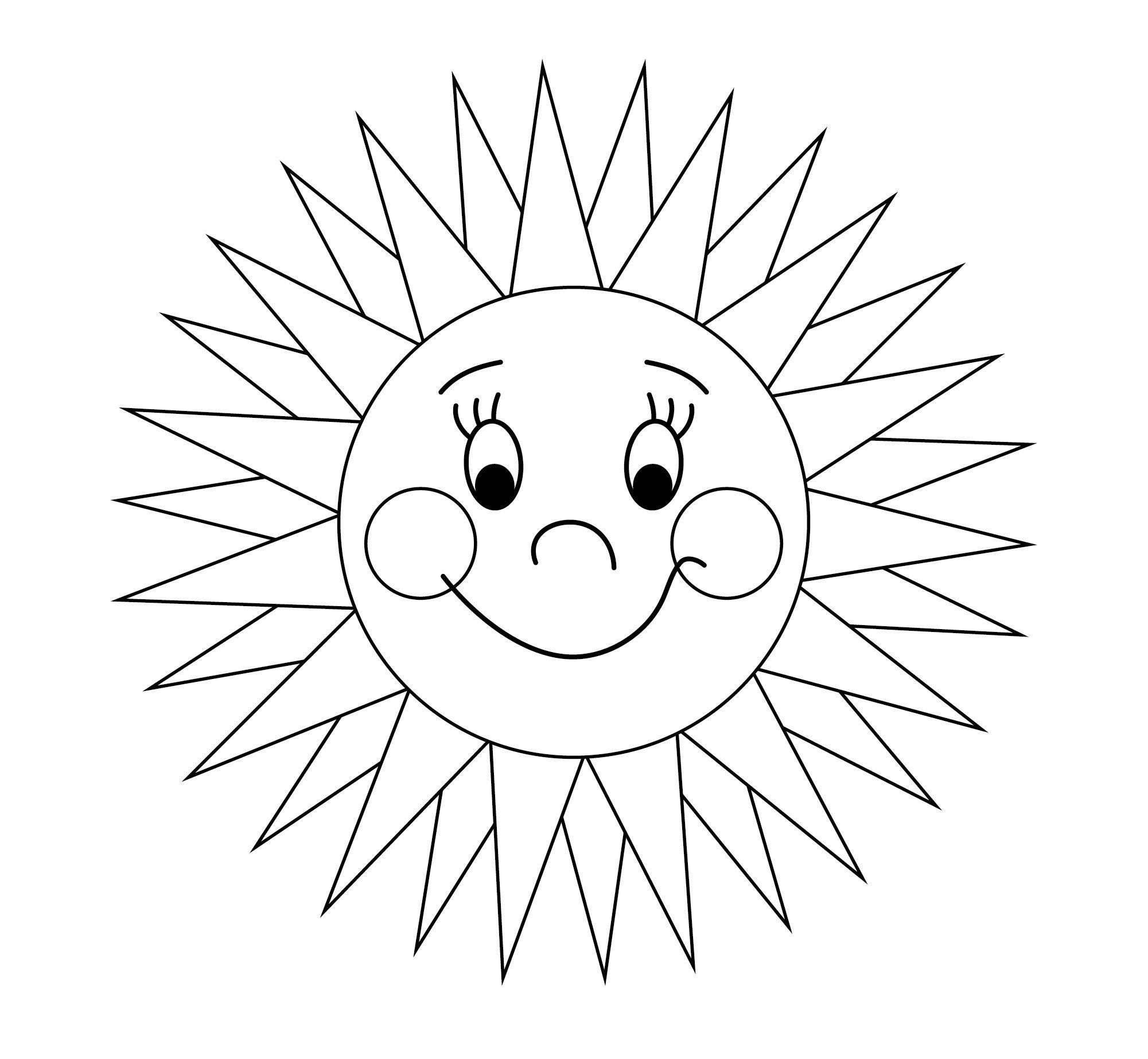 Ausmalbilder Sonne Kostenlos Ausdrucken | Malvorlagen mit Bastelvorlage Sonne