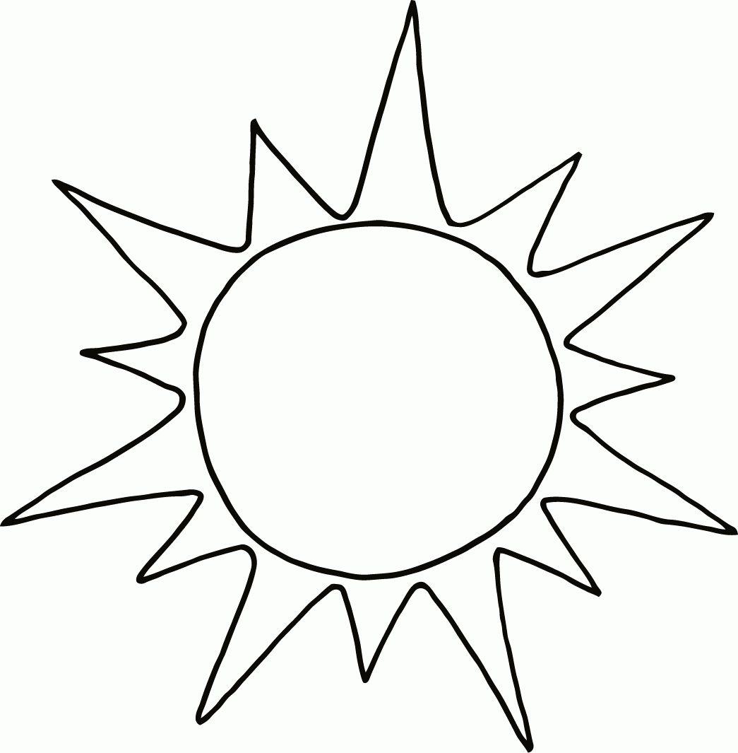 Ausmalbilder Sonne Kostenlos Ausdrucken | Sonne Basteln bei Bastelvorlage Sonne