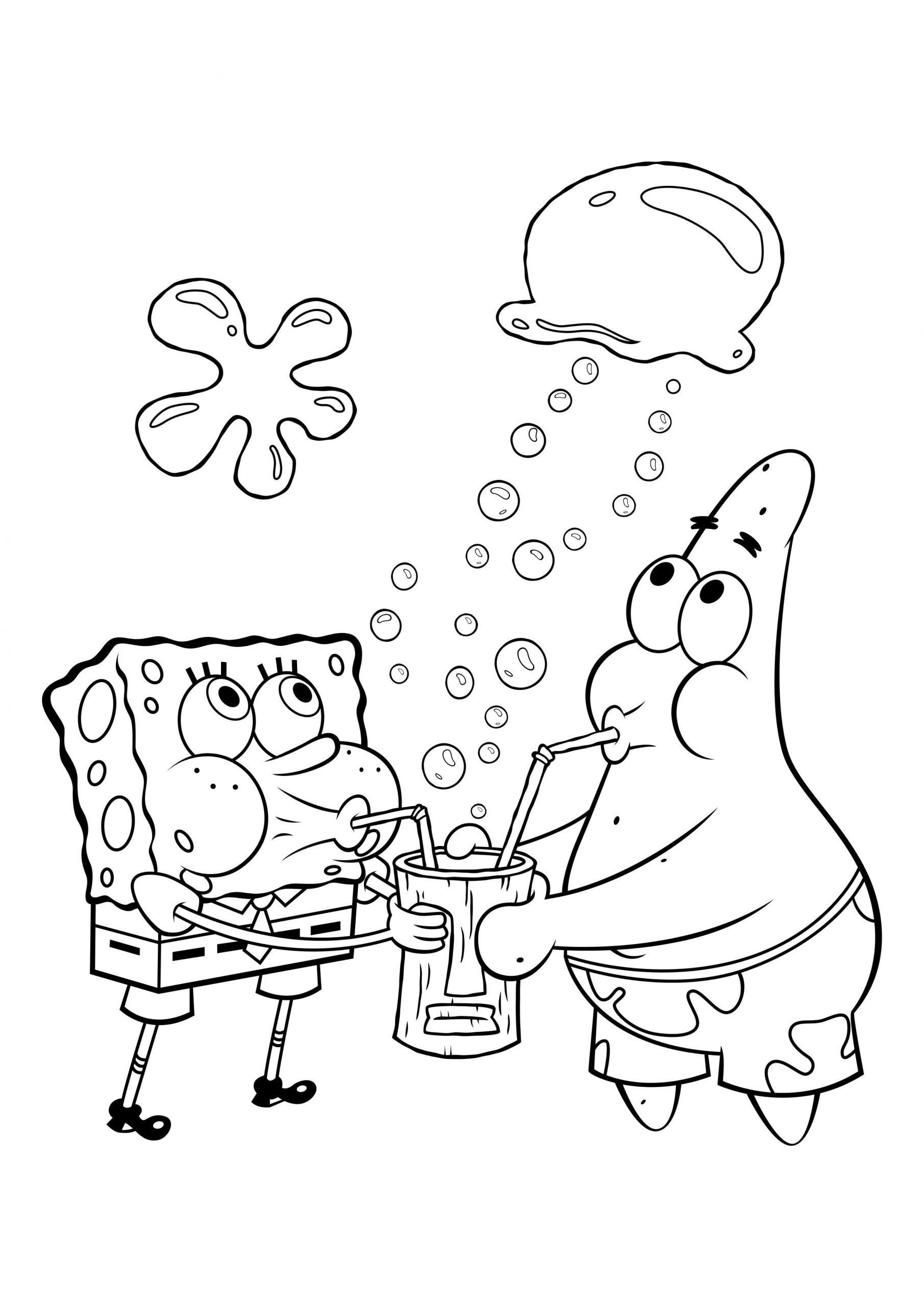 Ausmalbilder Spongebob. Kostenlos Drucken, Die Besten Bilder bei Die Besten Ausmalbilder