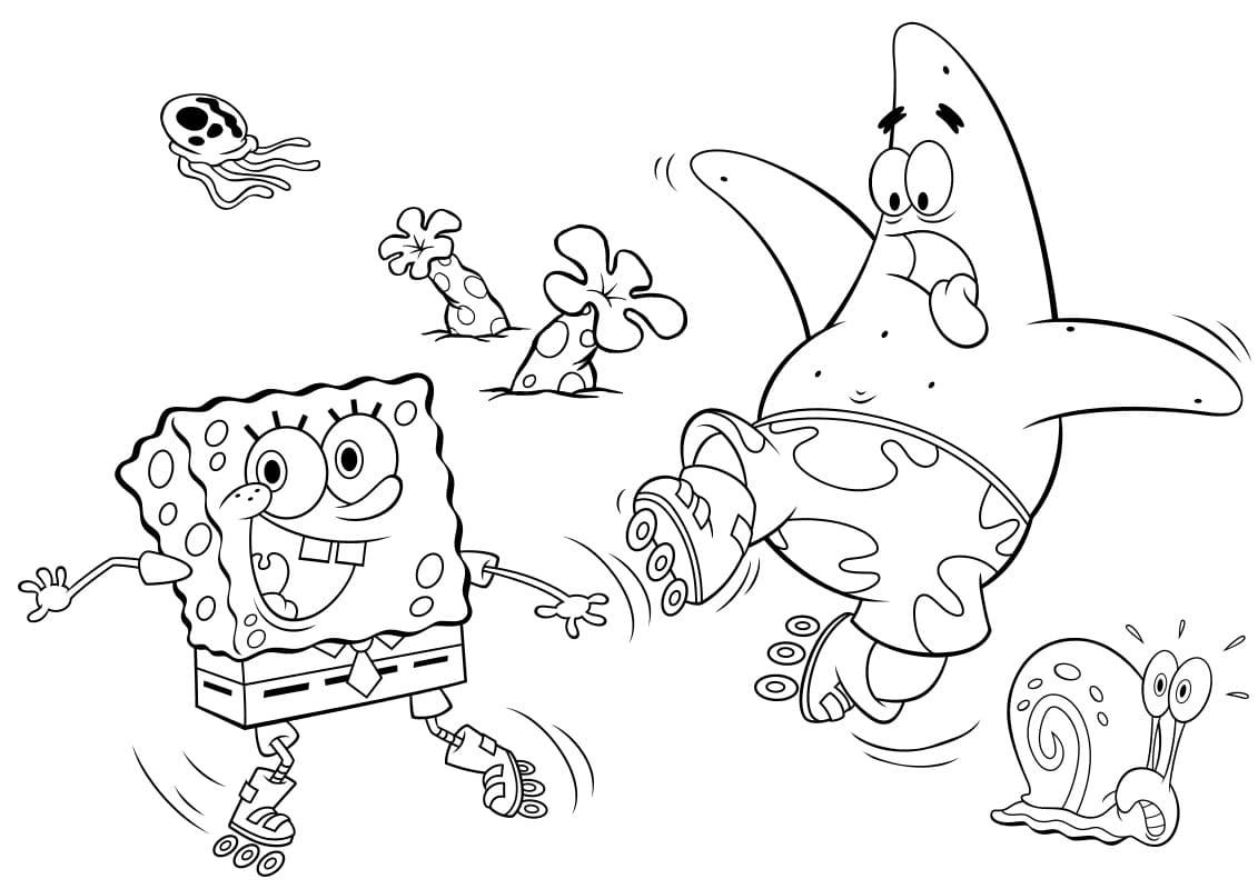 Ausmalbilder Spongebob. Kostenlos Drucken, Die Besten Bilder ganzes Die Besten Ausmalbilder