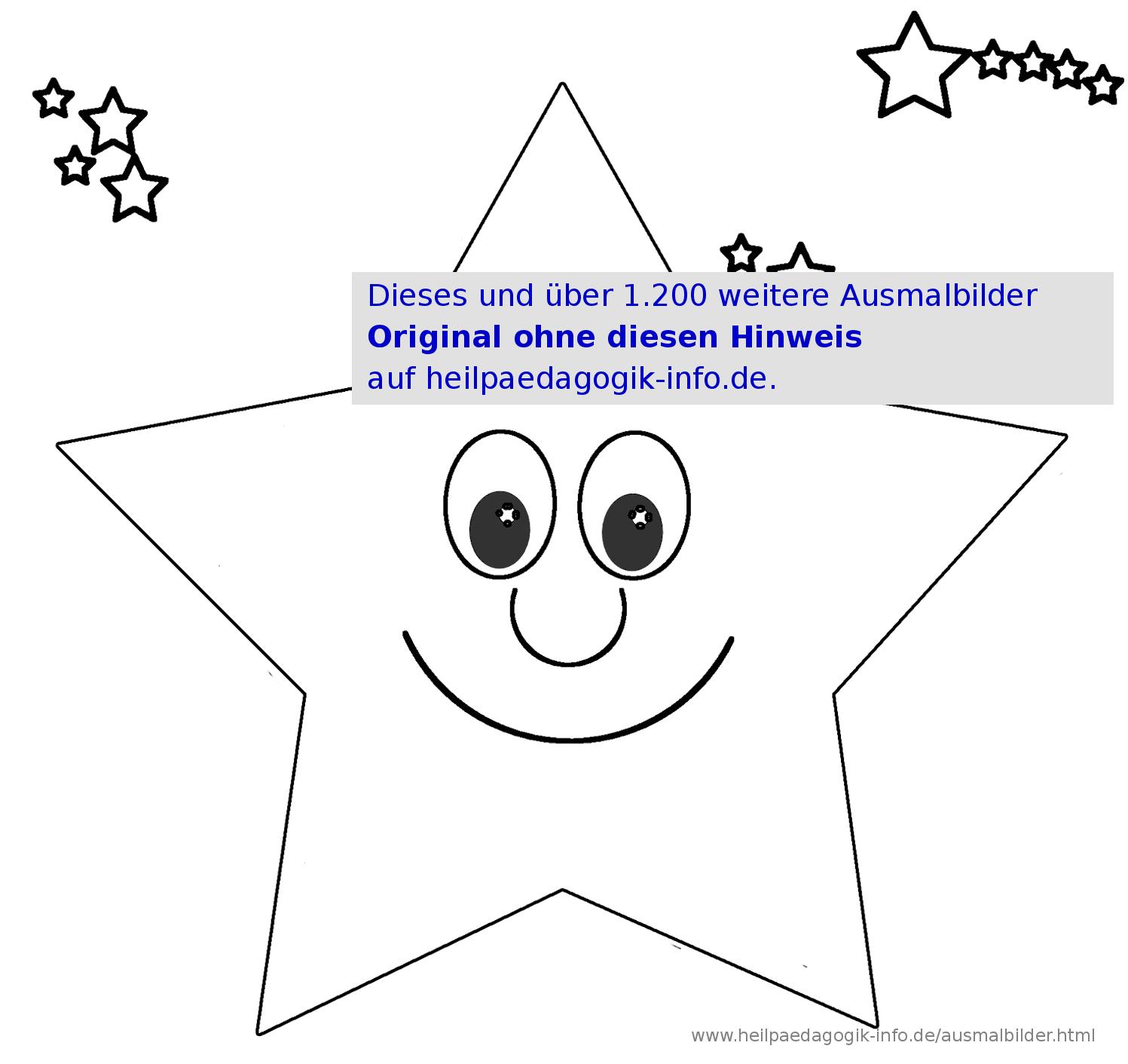 Ausmalbilder Sterne verwandt mit Malvorlage Stern Groß