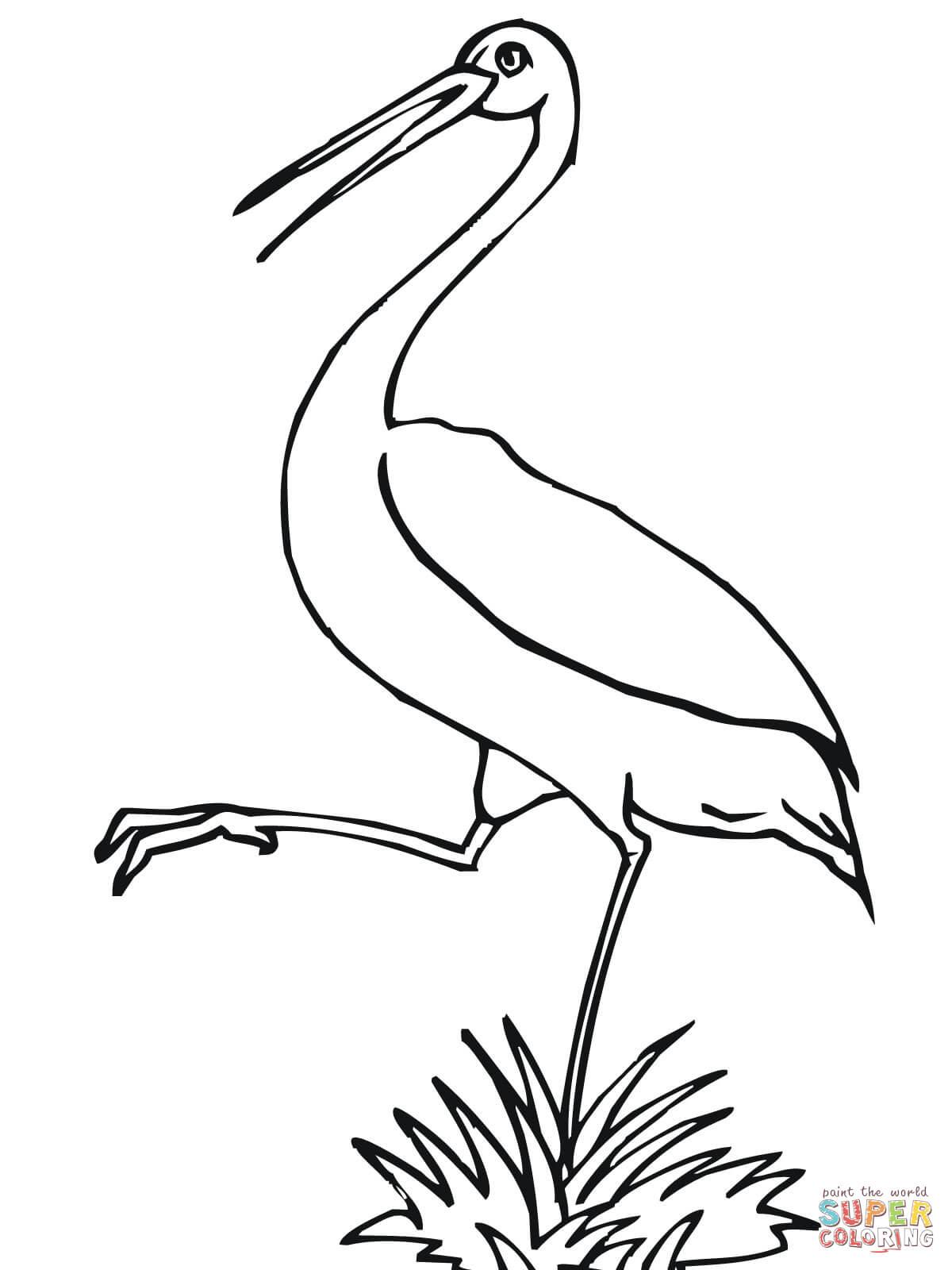 Ausmalbilder Storch - Malvorlagen Kostenlos Zum Ausdrucken bei Storch Zum Ausmalen