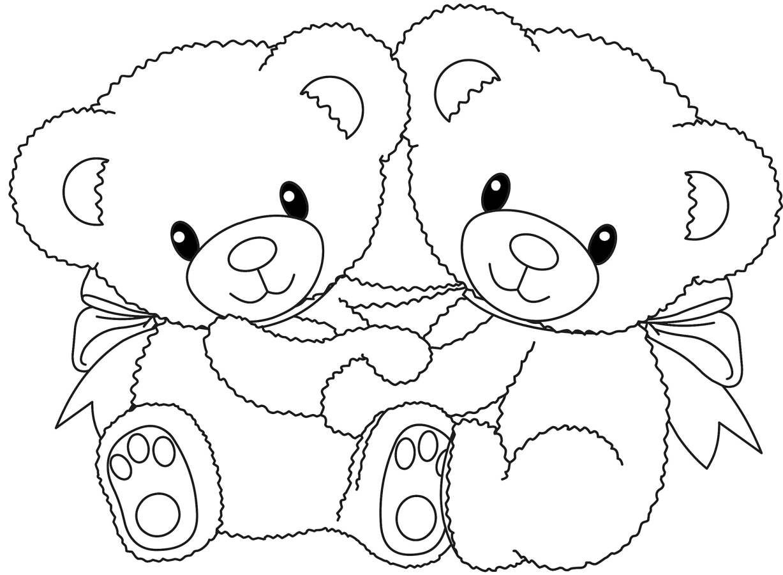 Ausmalbilder Teddy - 1Ausmalbilder | Ausmalbilder Panda bei Teddybär Malvorlage