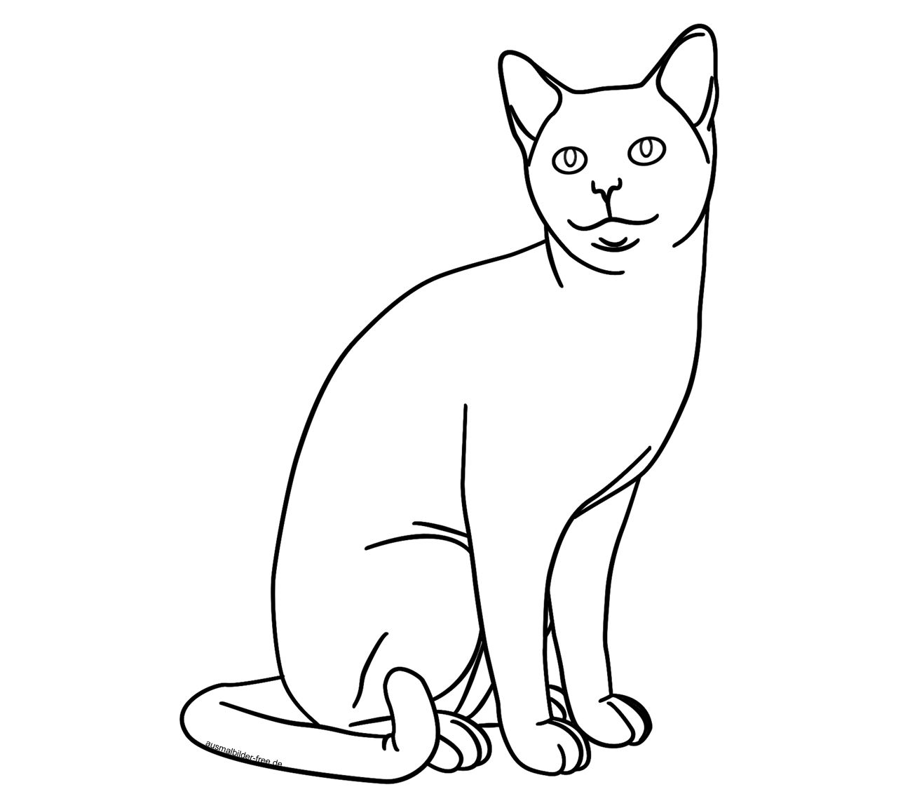 Ausmalbilder-Tiere-Katze-Katzen-Karikaturen-Comic-Cartoon mit Katzenbilder Comic
