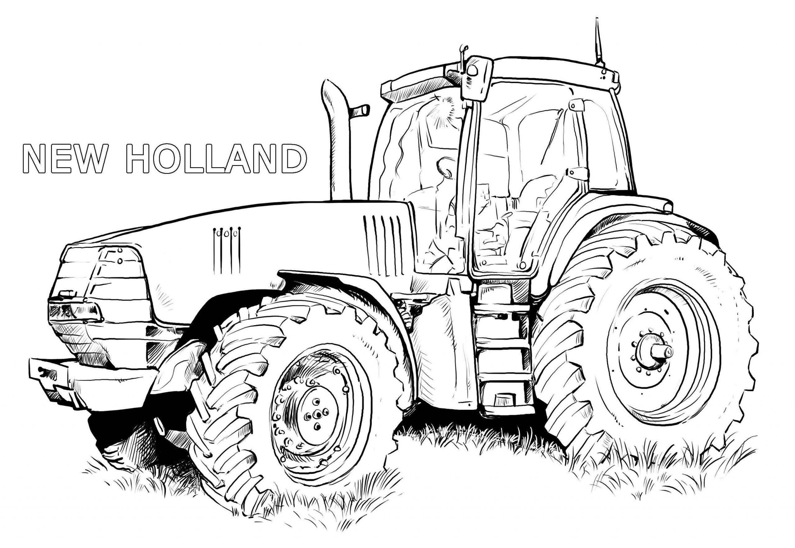 Ausmalbilder Traktor New Holland   Ausmalbilder Traktor für Trecker Ausmalbild