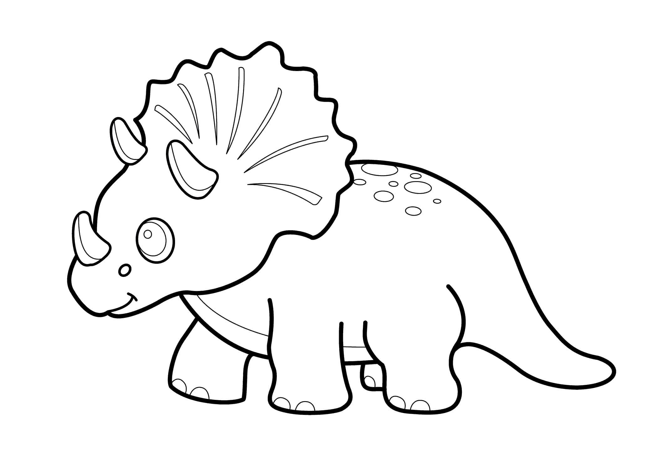 Ausmalbilder Triceratops. Kostenlos Herunterladen Oder über Ausmalbilder Kostenlos Dinosaurier