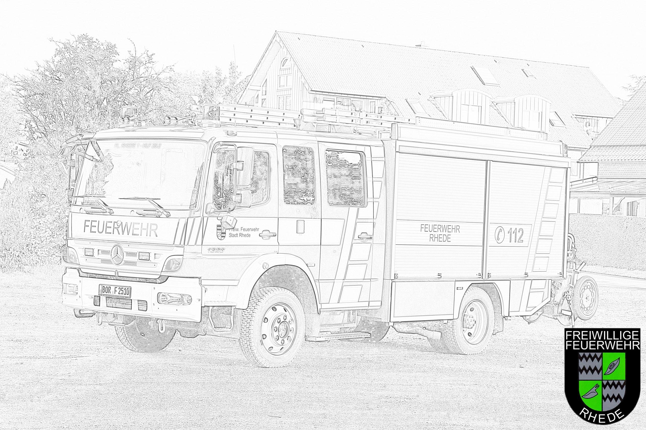 Ausmalbilder Und Bastelvorlagen | Feuerwehr Rhede über Ausmalbild Feuerwehr