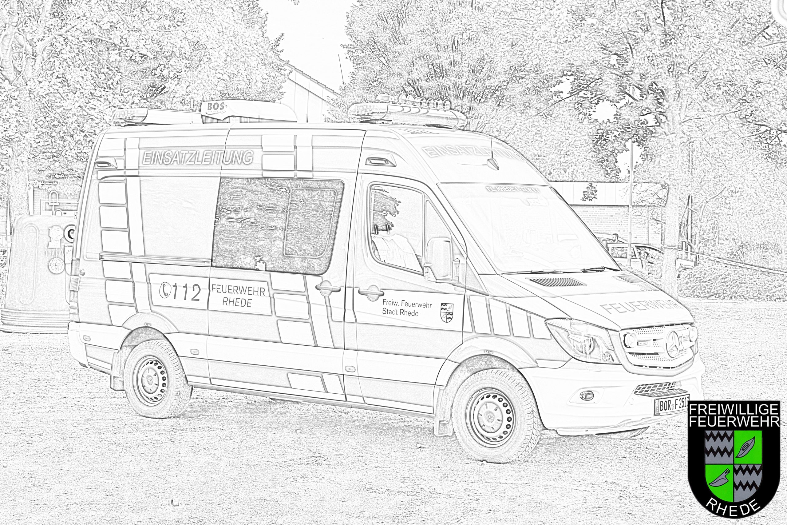 Ausmalbilder Und Bastelvorlagen | Feuerwehr Rhede verwandt mit Feuerwehr Bilder Zum Ausmalen