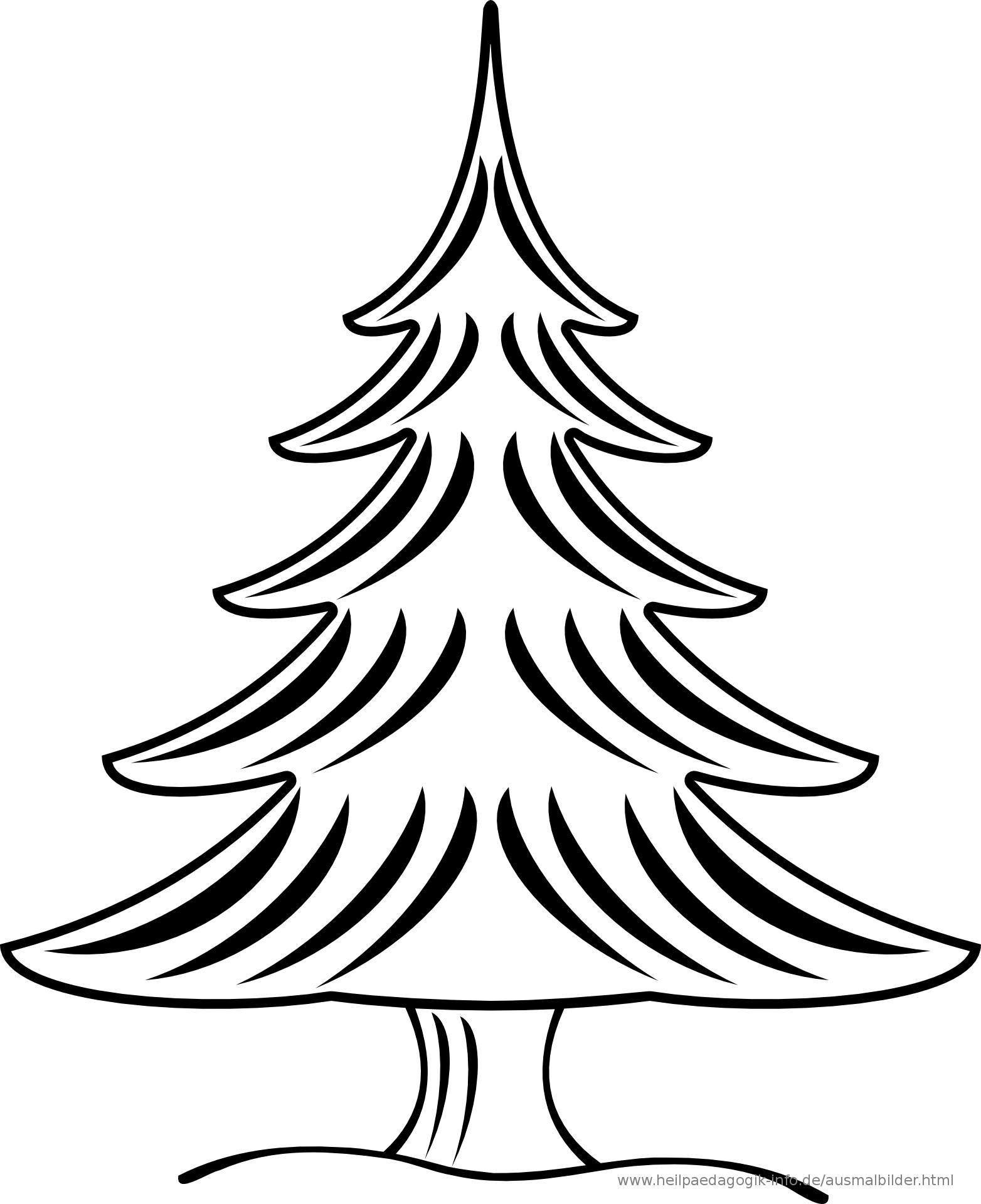 Ausmalbilder Weihnachten | Tannenbaum Vorlage, Malvorlage verwandt mit Tannenbaum Zum Ausmalen