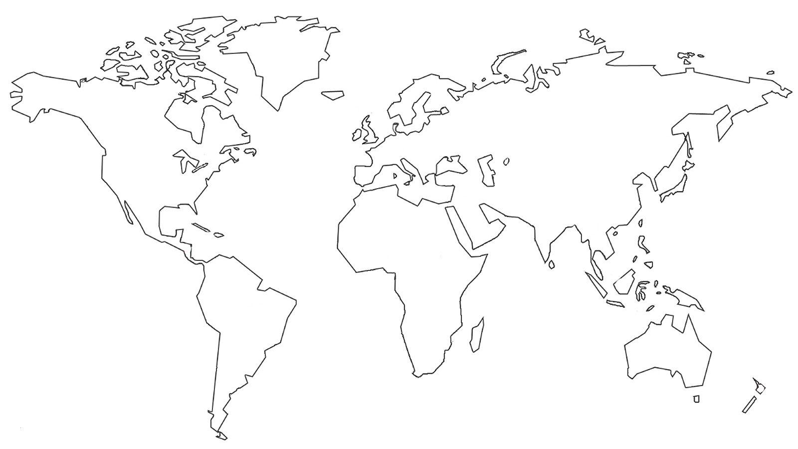 Ausmalbilder Weltkarte Best Of Weltkarte Schwarz Weiß über Weltkarte Umrisse