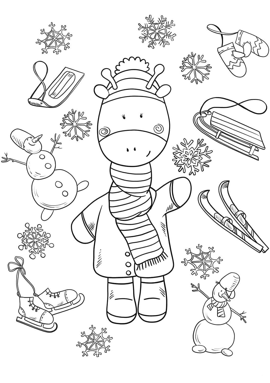 Ausmalbilder Winter. Kostenlos Drucken, 100 Bilder bei Ausmalbild Winter
