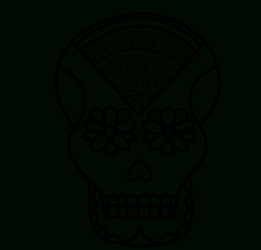 Ausmalbilder Zuckerschädel - 1Ausmalbilder verwandt mit Totenkopf Bilder Zum Ausmalen