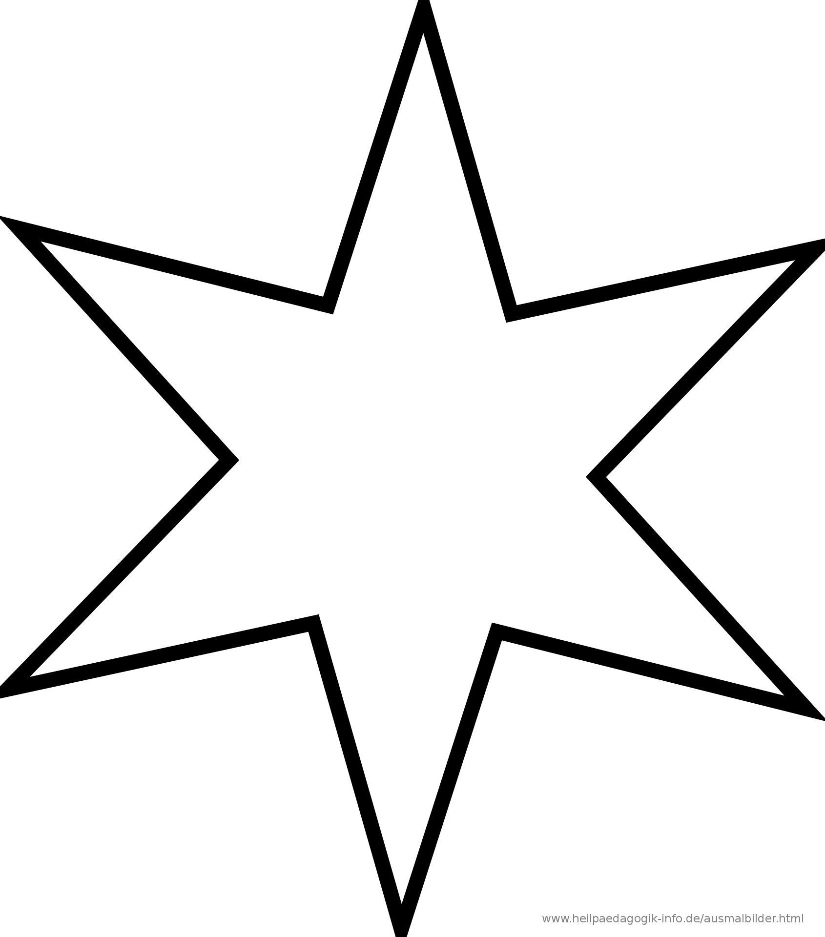 Ausmalbilder Zum Ausdrucken Sterne Modern Stern Vorlage in Malvorlage Stern Groß