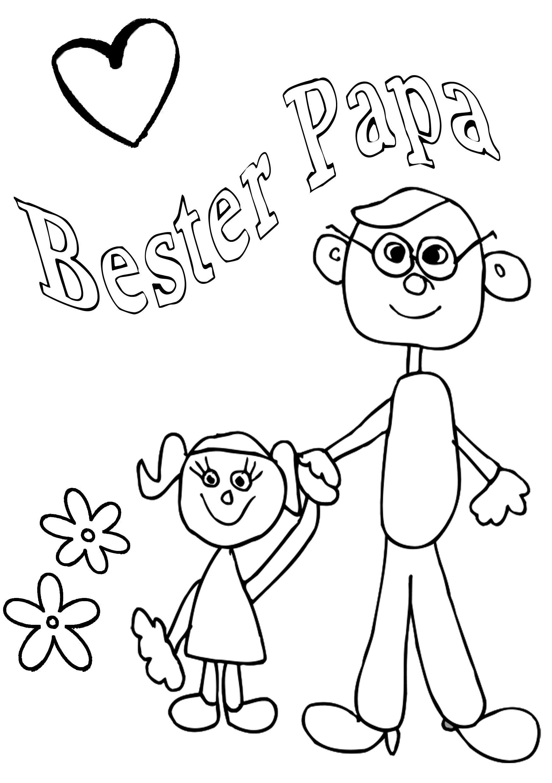 Ausmalbilder Zum Vatertag - Malvorlagen Kostenlos (Mit verwandt mit Malbilder Zum Ausdrucken
