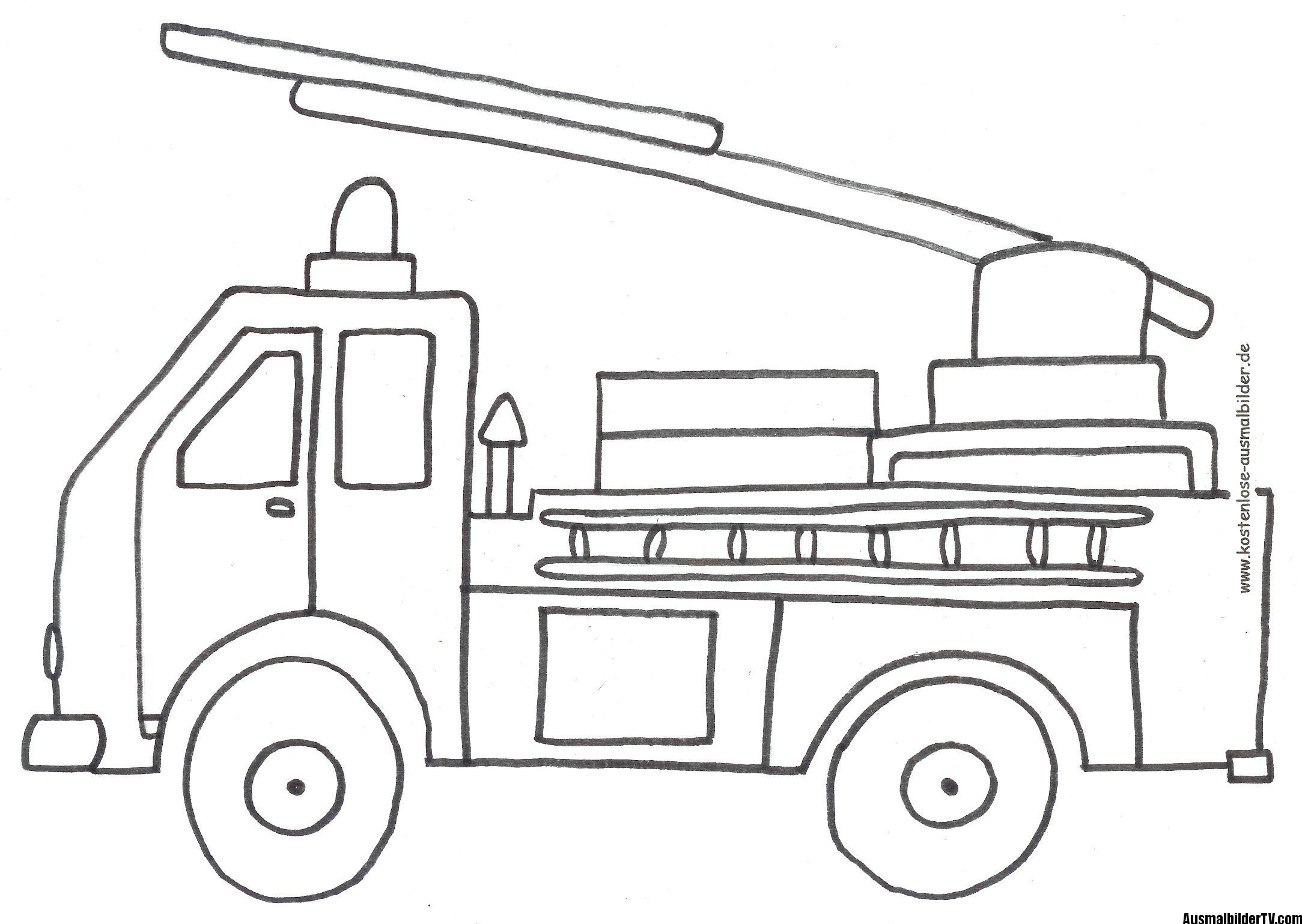 Ausmalen Feuerwehr - Malvorlagentv (Mit Bildern für Feuerwehr Ausmalbilder Kindergarten