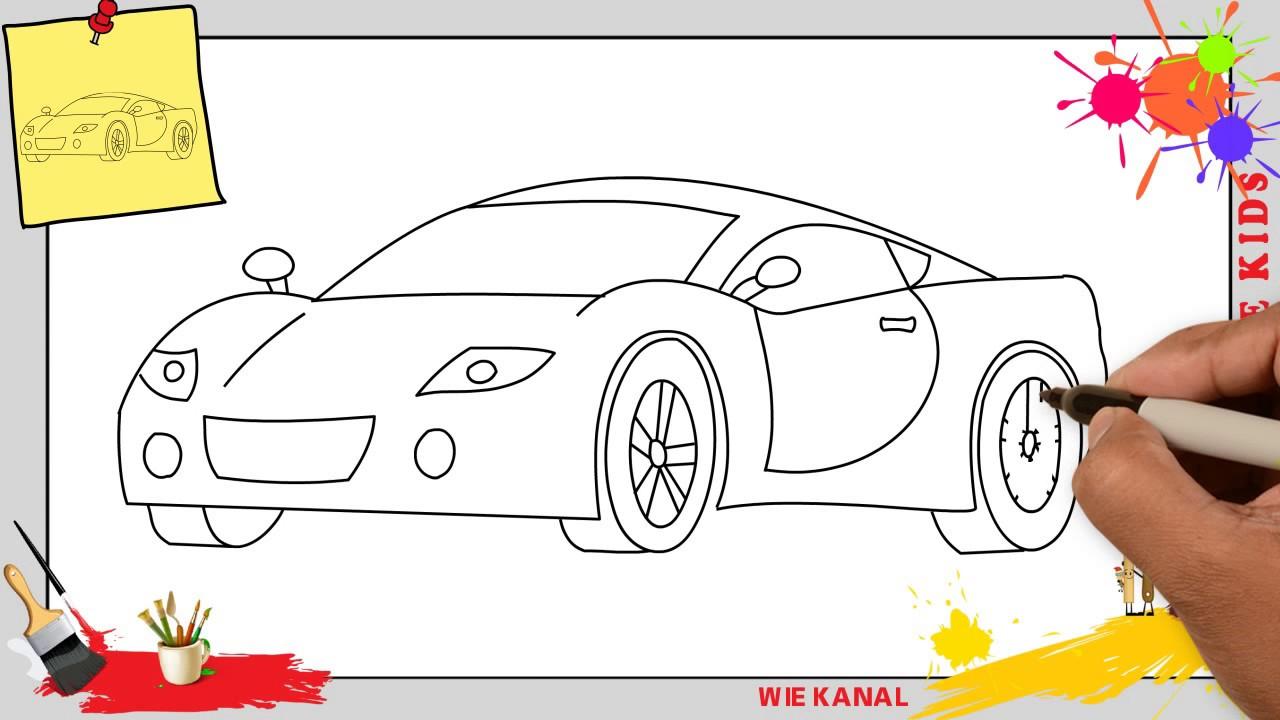 Auto Zeichnen 2 Schritt Für Schritt Für Anfänger & Kinder - Zeichnen Lernen über Auto Malen Einfach