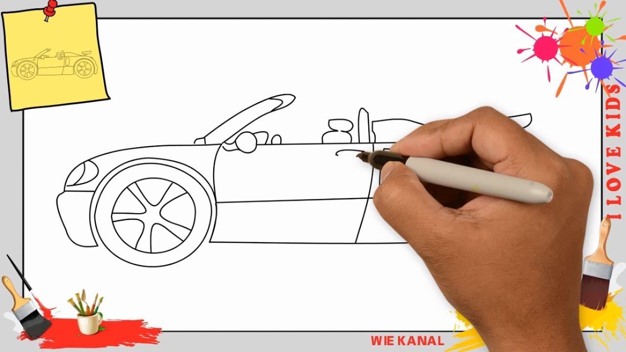 Auto Zeichnen 5 Schritt Für Schritt Für Anfänger & Kinder - Zeichnen Lernen verwandt mit Auto Malen Einfach