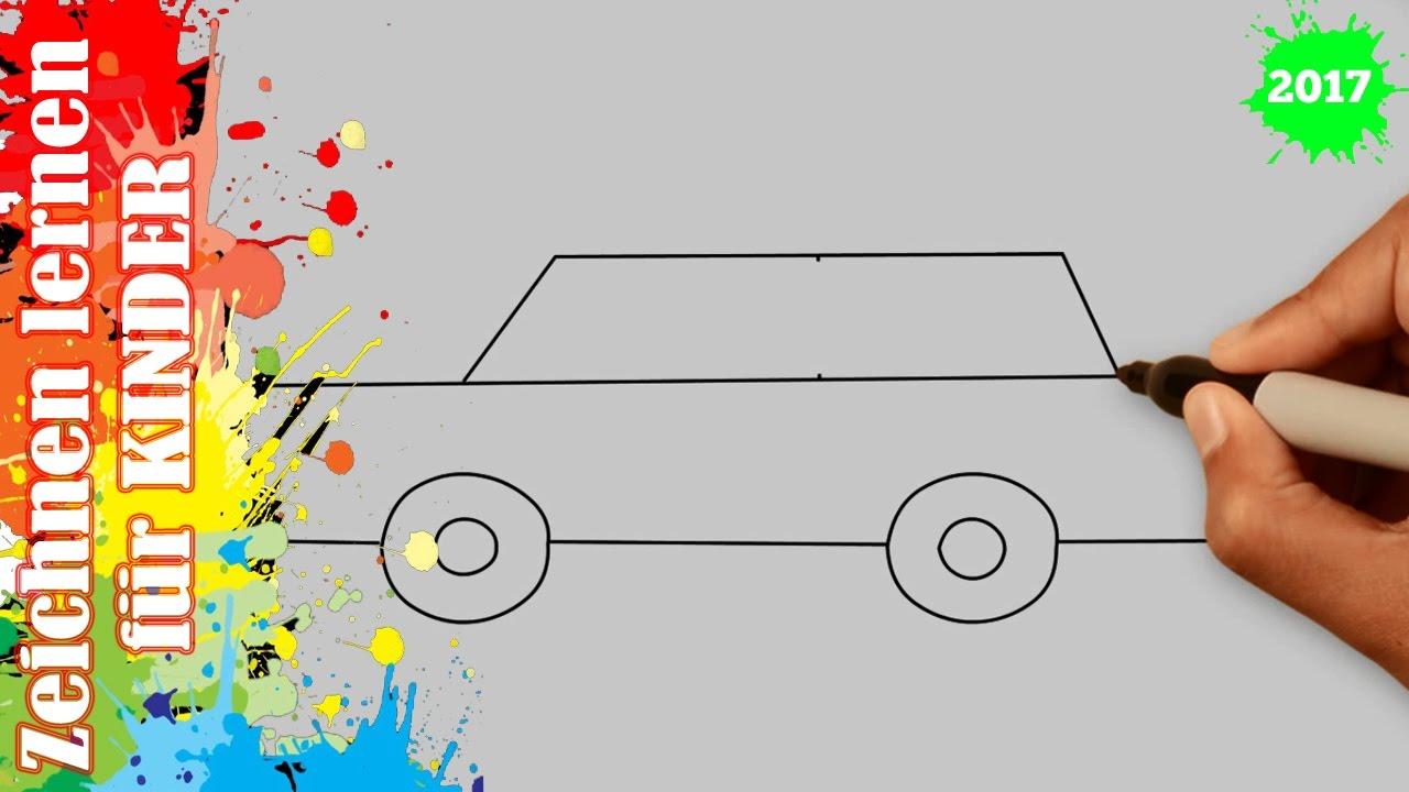 Auto Zeichnen 6 Für Anfänger & Kinder In 50S bei Auto Malen Einfach