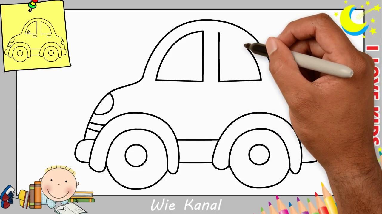 Auto Zeichnen Lernen Einfach Schritt Für Schritt Für Anfänger & Kinder 10 für Auto Malen Einfach