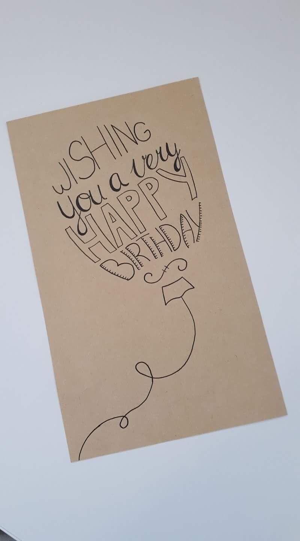 Balloon. | Geburtstagskarte, Geburtstagskarten Ideen, Karten mit Geburtstagskarten Ideen