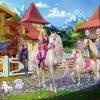 Barbie & Ihre Schwestern Im Pferdeglück (2013) - Barbie Filme in Ausmalbilder Barbie Prinzessinnen Akademie