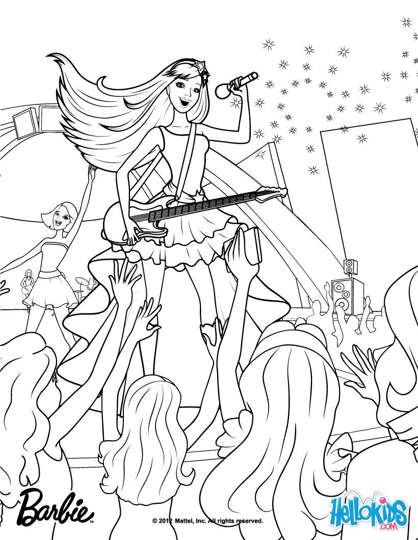Barbie Princess And The Popstar Coloring Pages 1 mit Ausmalbilder Barbie Und Der Popstar