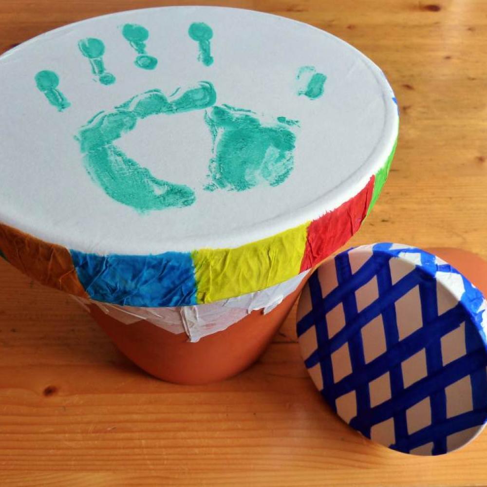 Bastel-Tipp: Trommeln Für Brasilien | Shz.de über Trommel Basteln Blumentopf