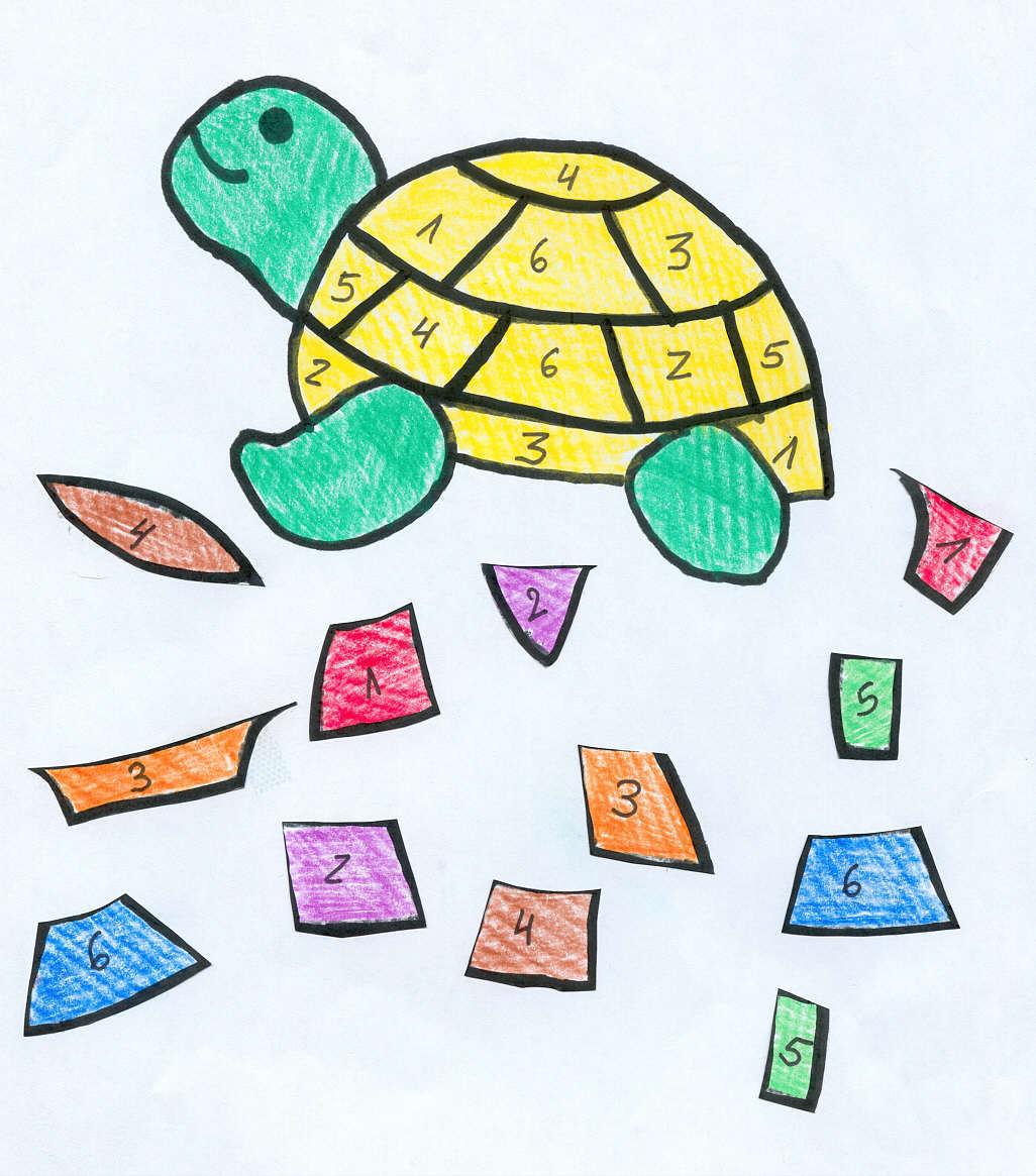 Bastelanleitung Für Das Schildkrötenspiel | Bastelanleitung ganzes Bastelvorlagen Für Kleinkinder