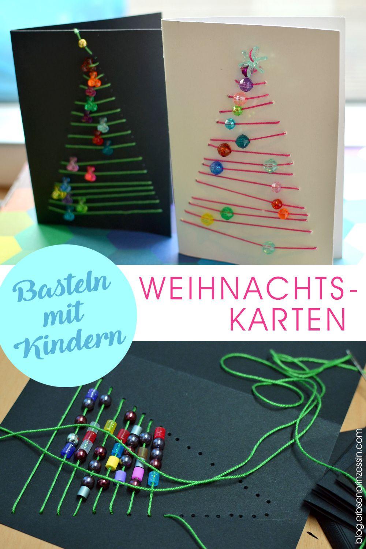 Bastelanleitung Grafische Weihnachtskarten: Advents-Basteln bei Weihnachtliche Bastelideen Für Kinder