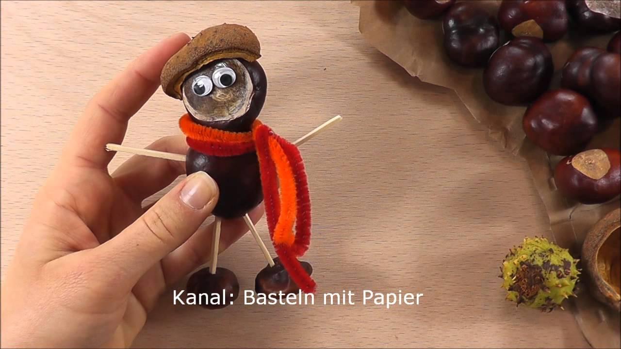 Basteln Mit Kastanien - 2 Bastelideen Für Den Herbst - Herbstdeko Ideen bestimmt für Bastelideen Mit Kastanien Und Eicheln