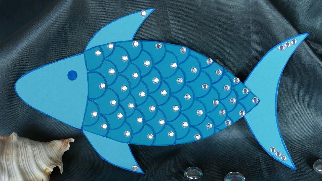 Basteln Mit Kindern – Basteln Mit Papier – Tiere/fisch Basteln Aus Papier innen Fische Basteln Vorlagen