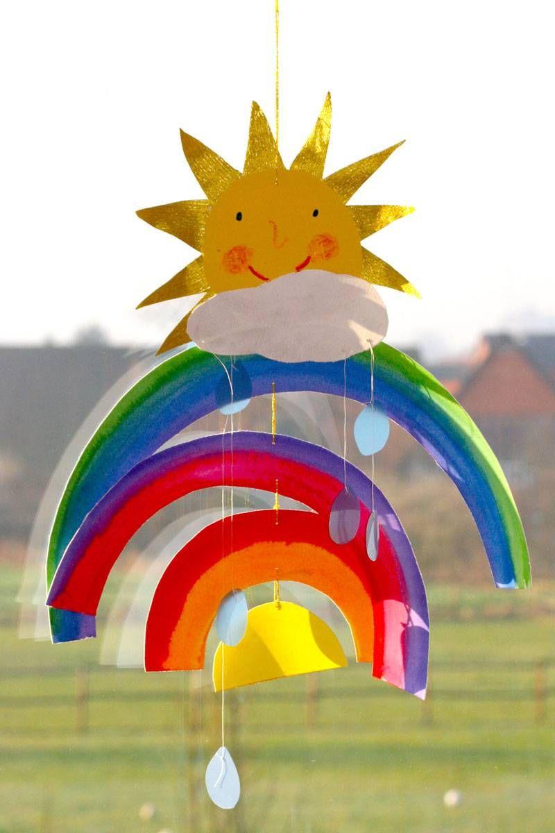 Basteln Mit Kindern - Kostenlose Bastelvorlage Natur bestimmt für Bastelvorlage Regenbogen