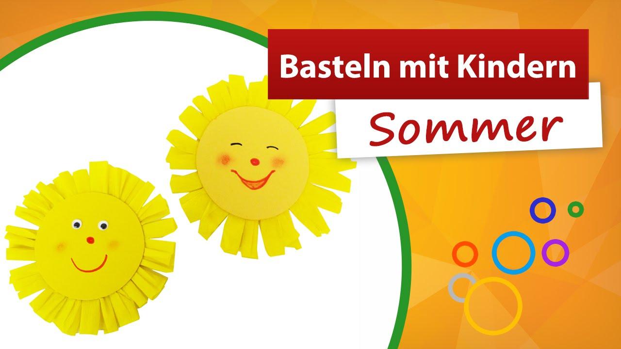 Basteln Mit Kindern Sommer | Sonne Basteln - Trendmarkt24 Kinder  Bastelanleitung innen Bastelvorlage Sonne