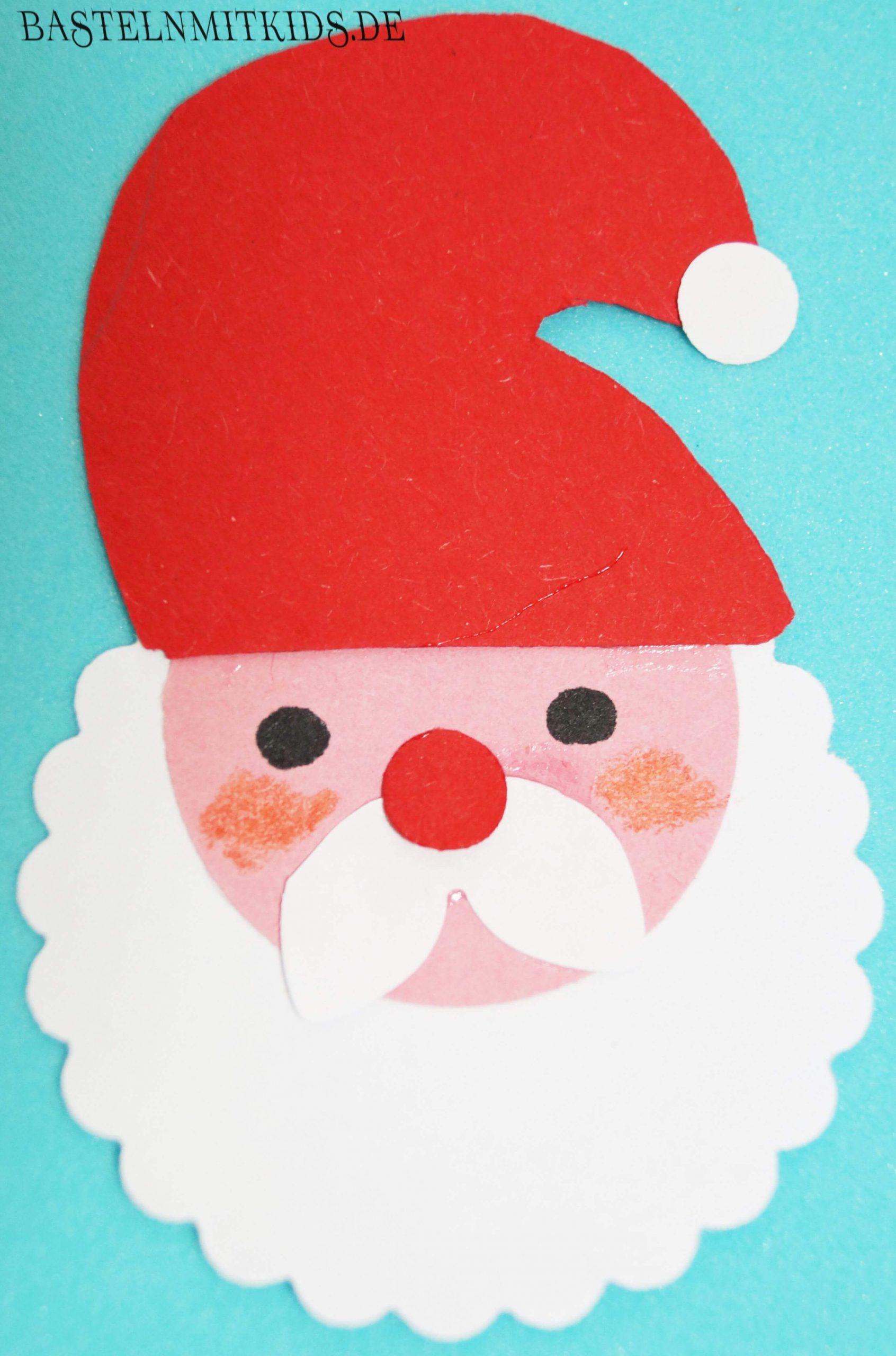 Basteln Mit Kindern - Weihnachtsmann Vorlage Für verwandt mit Weihnachtsmann Bastelvorlage