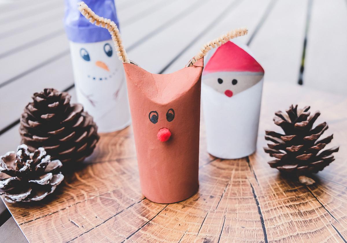 Basteln Mit Klopapierrollen Zu Weihnachten: 3 Kinderleichte über Weihnachtliche Bastelideen Für Kinder