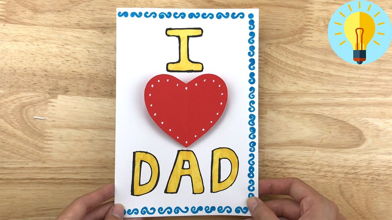 Basteln Mit Papier: Pop Up Karte Basteln Zum Vatertag| Vatertagsgeschenke  Basteln ganzes Bastelideen Zum Vatertag Grundschule