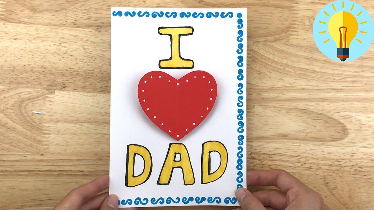 Basteln Mit Papier: Pop Up Karte Basteln Zum Vatertag  Vatertagsgeschenke  Basteln ganzes Vatertag Geschenkideen Zum Selber Machen