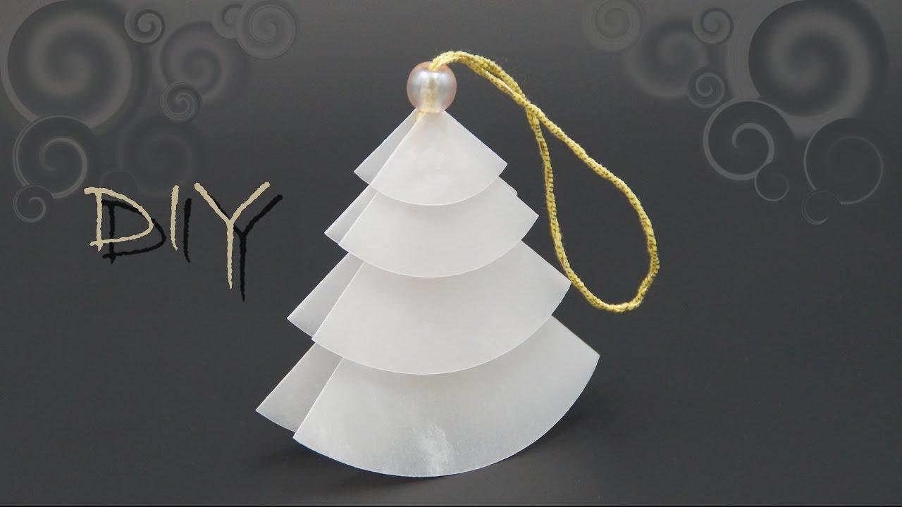 Basteln Mit Papier Zu Weihnachten: Einfachen Tannenbaum Falten, Diy ganzes Einfache Bastelideen Für Weihnachten