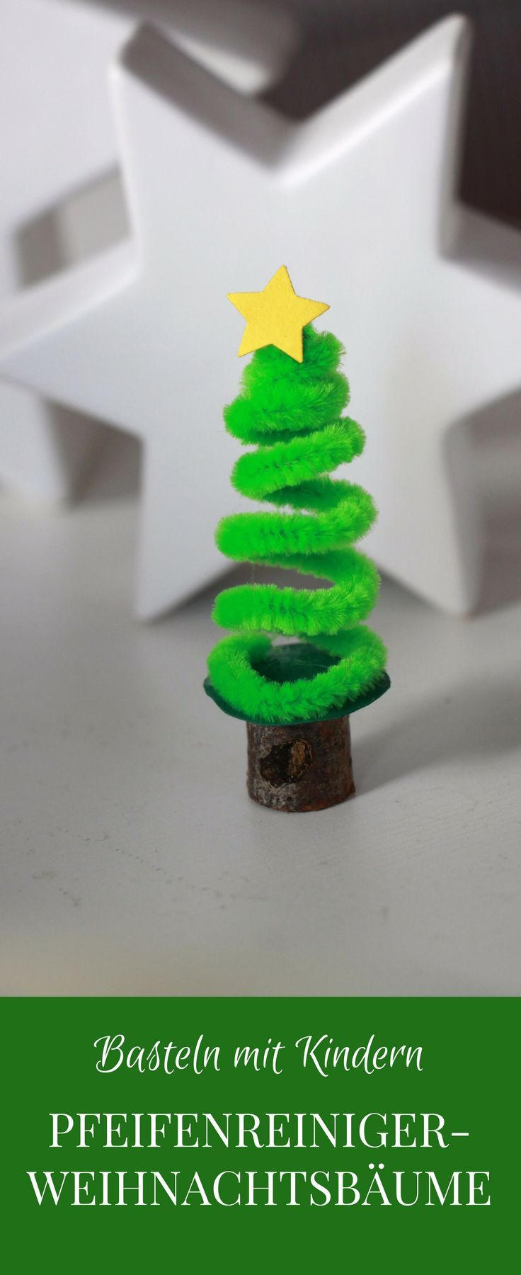 Basteln Mit Pfeifenreinigern: Pfeifenreiniger-Tannenbaum Als bestimmt für Weihnachtliche Bastelideen Für Kinder