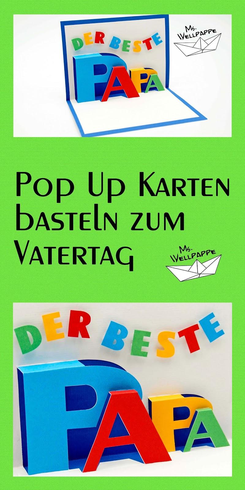 Basteln Und Mehr: Pop Up Karte Basteln Zum Vatertag verwandt mit Vatertagsgeschenke Selber Basteln