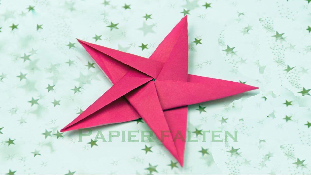 Basteln Zu Weihnachten: Sterne Basteln - Origami Sterne Falten mit Weihnachts Sterne Basteln