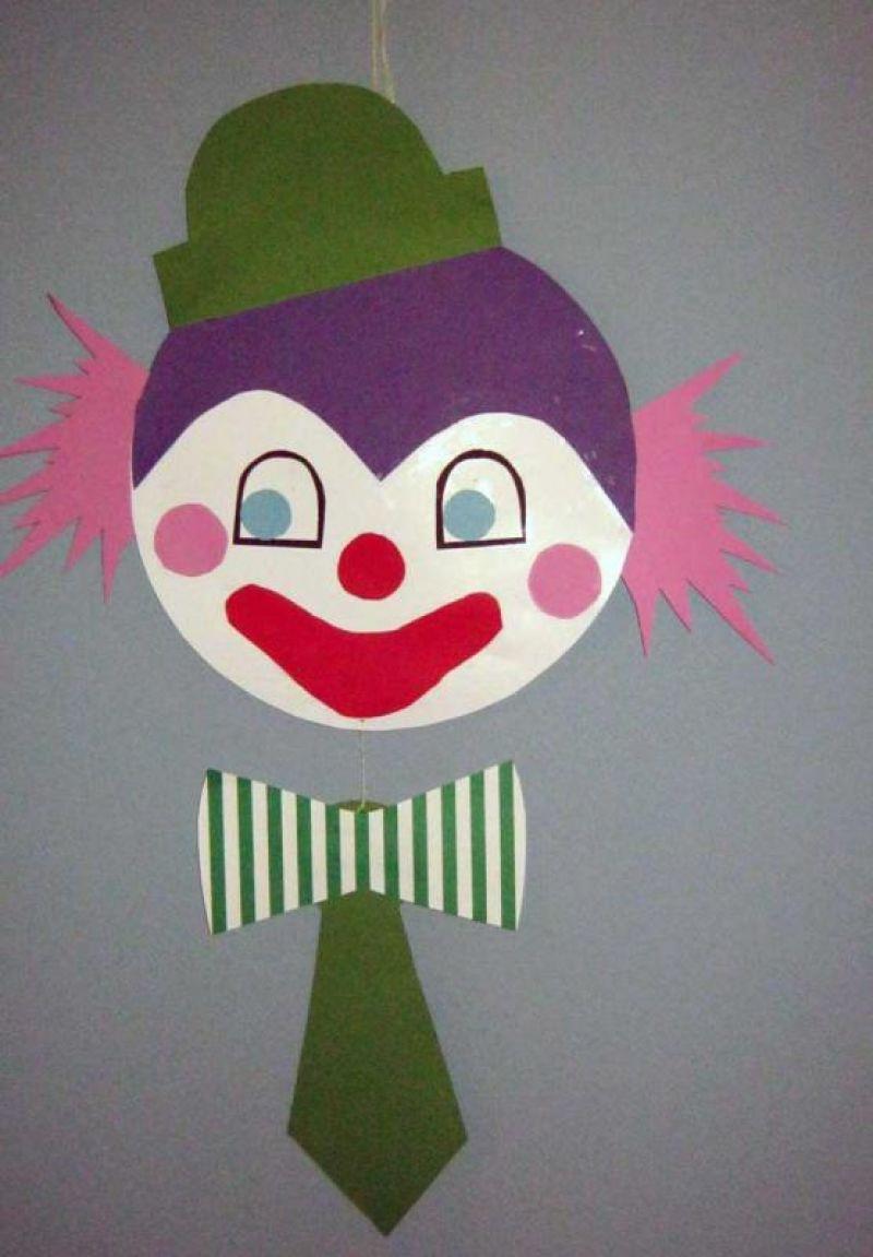 Bastelvorlage Clown Aus Tonpapier Selber Basteln innen Clown Basteln Vorlage